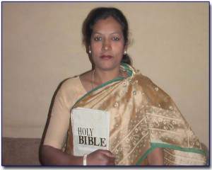 Bible Woman Sister Pulkeswari  Place of Work - Chilla village - Delhi